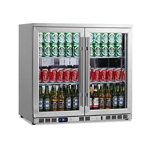 KingsBottle 169 Can 2-Door Under Counter Beverage Cooler, Heating Glass (2 Door Beverage Cooler compare prices)