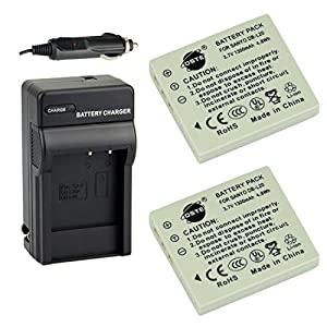 DSTE® 2PCS DB-L20 Rechargeable Li-ion Battery + Travel & Car Charger DC29 for Sanyo VPC-C40 VPC-C5 VPC-C6 VPC-CA6 VPC-CA65 VPC-CA8 VPC-CA9 VPC-CG6 VPC-CG65 VPC-CG9 VPC-E1 VPC-E2 VPC-E6 VPC-E7 VPC-S7 Camera
