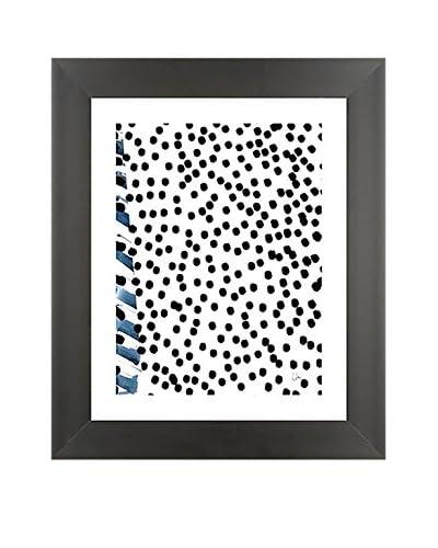 "Laurent Koller ""Kollage 18"" Hand-Painted Framed Original"