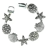 Silver Sea Life Theme Magnetic Bracelet Fashion Jewelry