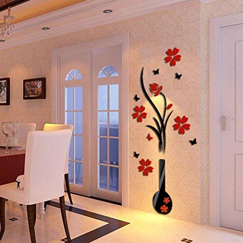 3D-Stickers-muraux-Dcoration-de-maison-DIY-Vase-Fleur-arbre-de-cristal-acrylique-Decal