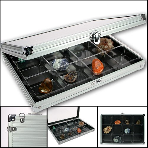 Lego, Rock, Gem & Mineral Display Case - Aluminum (Rock Display Box compare prices)