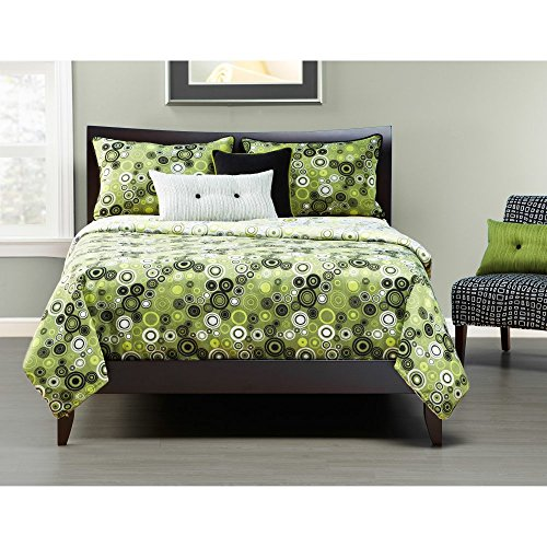 Lime green and black comforter and bedding sets for Black and lime green bedroom ideas