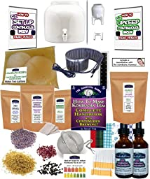 KKamp Continuous Brew Kombucha DELUXE PACKAGE - White w/ Stand + Essential Heat Strip