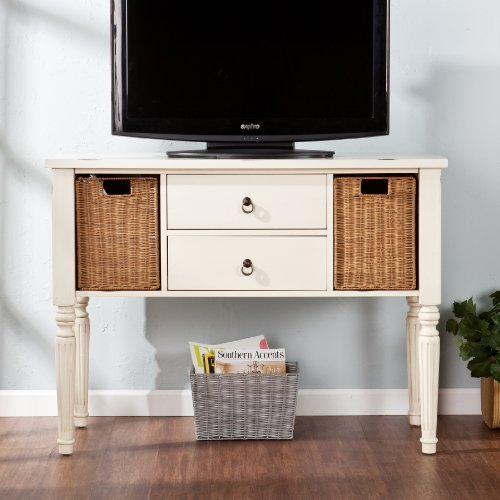Southern Enterprises Serna Console with Storage Baskets