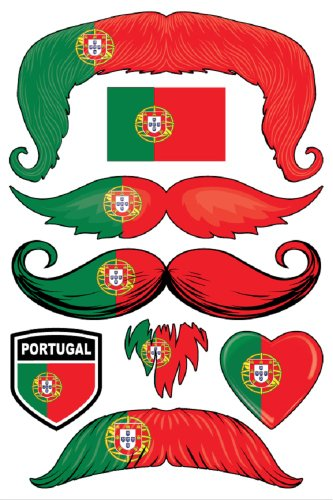 StacheTATS Portugal Temporary Mustache Tattoos - 1
