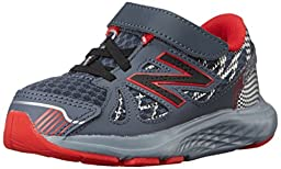 New Balance KV690I Running Shoe (Infant/Toddler), Grey/Red, 3 M US Infant