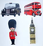 London Deluxe Wooden Fridge Magnet Gift Set - LS-1