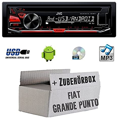 FIAT GRANDE PUNTO 199 - JVC KD r471e - Autoradio CD/MP3/USB - Kit de montage
