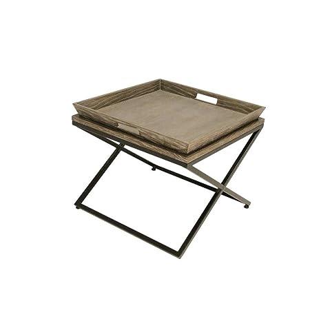 LightMakers 6235683 LightMakers The Avante Burned Oak Coffee Table, 24 by 24 by 20-Inch