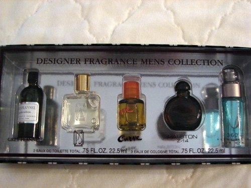 Designer Fragrance Mens Collection Gift Set (Grey Flannel, PS, Curve, Halston Z-14, 360 Perry Ellis for Men)