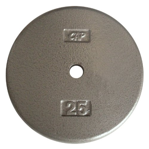 Cap Barbell Free Weights Standard 25-Pounds Plate (Gray)