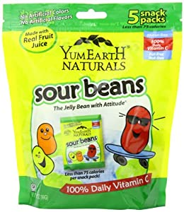 YumEarth Natural Sour Jelly Beans, 5 Count, Net Wt. 3.5 Oz.