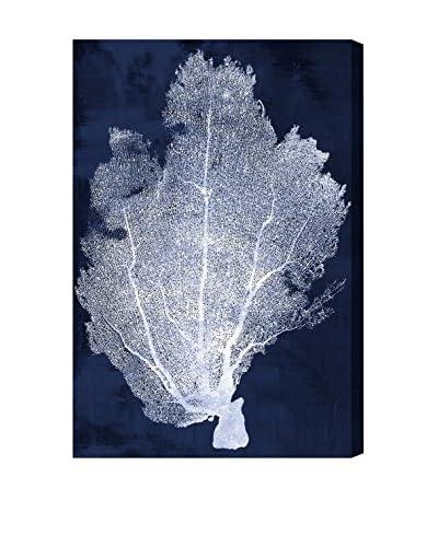 "Oliver Gal ""Coral Fan Cyanotype 2"" Canvas Art"