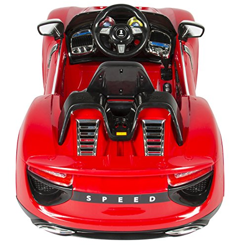 best choice products 12v ride on car kids rc car remote control electric battery power with radio mp3 red