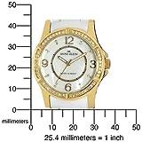 AK Anne Klein Women's 109588MPWT Swarovski Crystal Accented Gold-Tone White Ceramic Watch