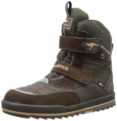 KangaROOS Boys Alfred Boots Brown Braun (dark brown/lynx/black) Size: 1 (33 EU)