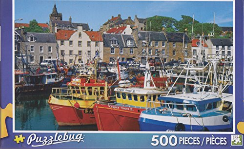 Puzzlebug 500 Piece Puzzle ~ Fishing Boats, Pittenweem, Fife, Scotland
