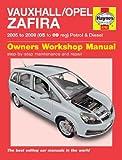 Vauxhall Zafira 1.6i 1.8i 2.2i Petrol & 1.9 CDTi Club Design Exclusiv Life Diesel 2005 - 2009 Haynes Manual