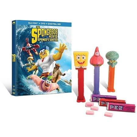The SpongeBob Movie: Sponge Out Of Water (Store Exclusive Edition) (Blu-ray + DVD + Digital HD + SpongeBob Pez Dispensers) (Widescreen)