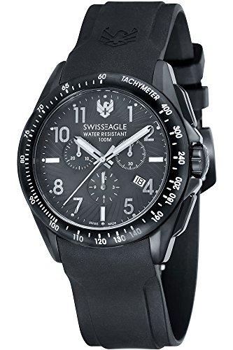 SWISS EAGLE SE-9061-01 - Reloj para hombres, correa de silicona