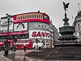 Piccadilly Circus, London Poster Print by Assaf Frank (9 x 12)
