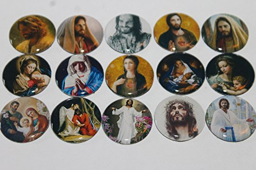 Geocache Refrigerator Magnets -Images Of Christ (Christian Theme) Set front-152687