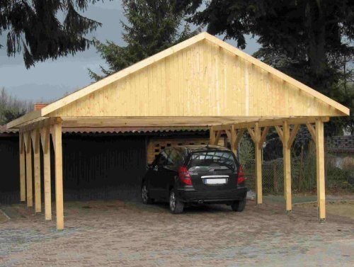 carport satteldach monte carlo iv 800x800cm kvh holz. Black Bedroom Furniture Sets. Home Design Ideas