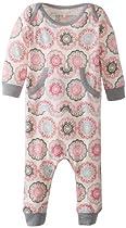 Dwell Baby-Girls Newborn Zinnia Playsuit, Rose, 0-3 Months