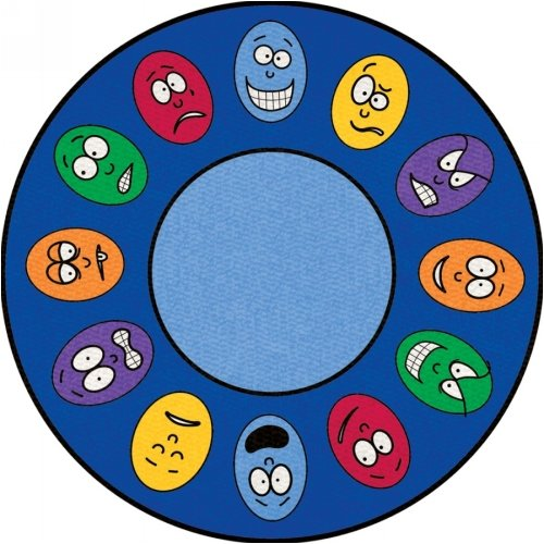 Learning Carpets Expressions Rug -Circle Small