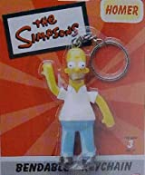 The Simpsons Homer Bendable Keyring Keychain