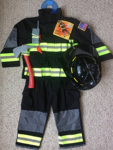 2014 TEETOT Boys Halloween FIRE FIGHTER Complete BLACK Costume