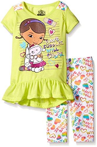 Disney Little Girls 2 Piece Doc Mcstuffins Printed Legging Set, Yellow, 5 (Doc Mcstuffins Clothes compare prices)
