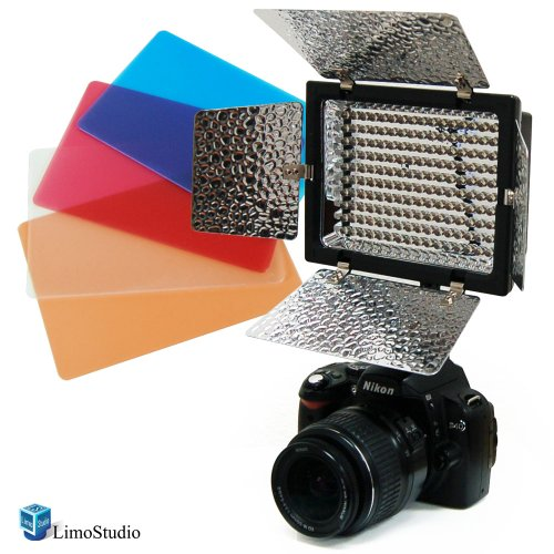 Limostudio 160 Led Photography Light With Barndoor For Digital Camera Or Digital Video Camcorder, Agg922