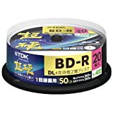 TDK Blu-ray Disc 20 Spindle - 50GB 4X BD-R DL - 2010 Printable Versionpar TDK