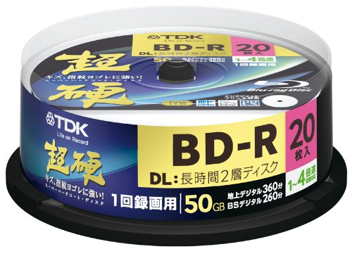 TDK Blu-ray Disc 20 Spindle - 50GB 4X BD-R DL - 2010 Printable Version