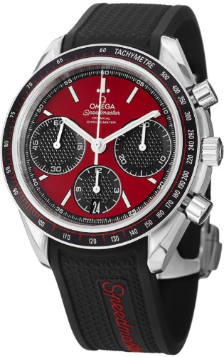Omega Speedmaster Racing Automatic Chronograph Red Dial Stainless Steel Mens Watch 32632405011001 (Omega Automatic Speedmaster compare prices)