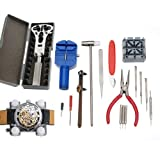 18 in 1 Watch Link Band Adjuster Pin Case Wrench Opener Plier Jewelry Kits Tool