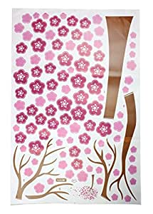 niceeshop(TM) Hot Pink Cherry Blossom Tree Wall Decor Removable Decal Sticker
