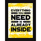 Framed Posters For Room - Motivational Message Quote - Inspiring Thoughts For Home And Wall Decor
