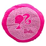 Barbie Barbie Round Glitter Cushion with Barbie Icon