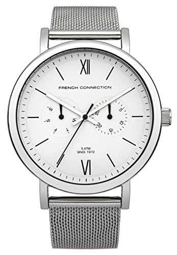 French connection hombre-reloj analógico de cuarzo Harley tela FC1223SM