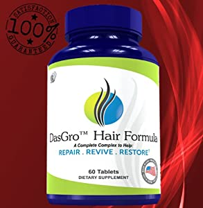 DasGro Hair Formula: #1 All-Natural Hair Growth Remedy For Women & Men | It Stops Hair Loss, Repairs Hair Follicles And Is Guaranteed To GROW NEW HAIR Fast! | This Safe And Natural Remedy Contains 24 Herbal Ingredients That Work In a Synergistic Way To Help Grow Healthy New Hair Without Any Negative Side Effects | Order Now!
