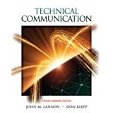 Technical Communication, Fourth Canadian Editionby John M. Lannon