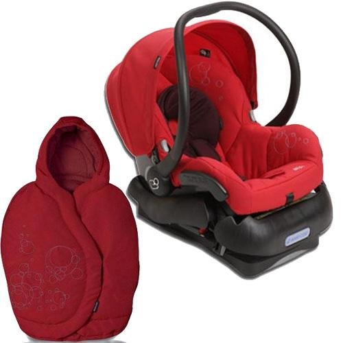 Quinny 2011 Mico Car Seat and Footmuff Set in Intense Red