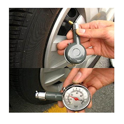 Iuhan® New Precision Automotive Tire Pressure Monitoring Deflated Tire Gauge (110 Psi Dial Tire Pressure Gauge compare prices)