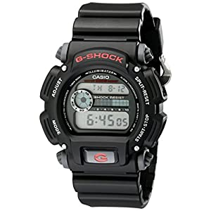 "Casio Men's DW9052-1V ""G-Shock"" Black Stainless Steel and Resin Digital Watch"