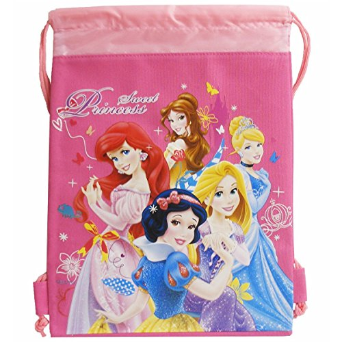 Disney Princess Hot Pink Drawstring Bag and Lanyard - 1