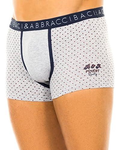 Baci & Abbracci Set 2 Pezzi Boxer [Grigio Chiaro/Blu Navy]