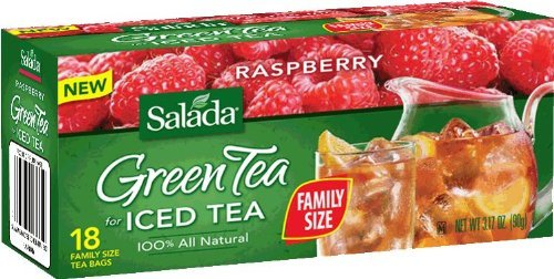 Salada Raspberry Green Tea Iced Tea 18 Family Size Tea Bags